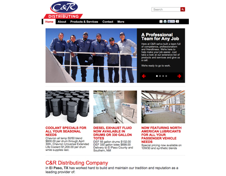 CR Distributing Contract Cre8ive Website Design