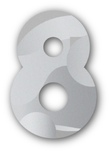 Lubbock Marketing Agency - Contract Cre8ive's Number 8 Logo