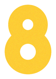social media services have a yellow 8 for Cre8ive's Full-Service Agency