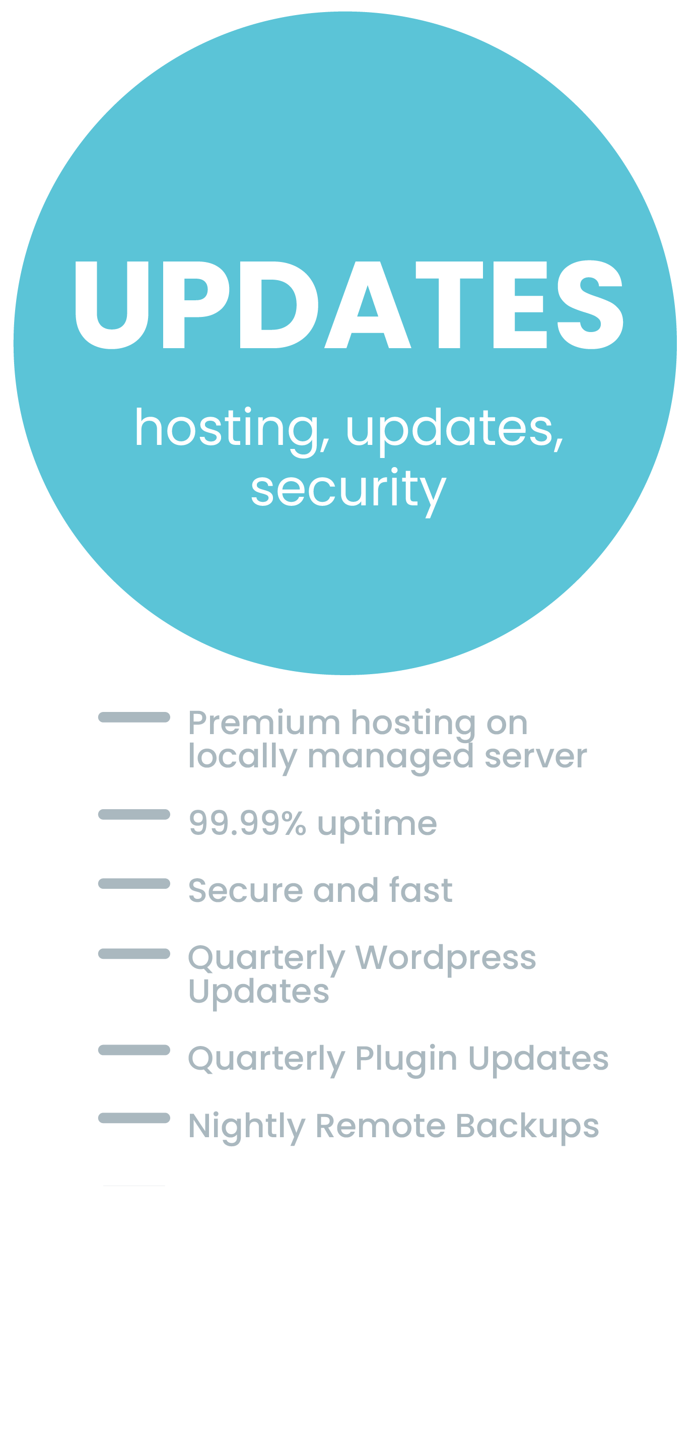 Hosting and Updates Hosting Package complete with Nightly Remote Backups