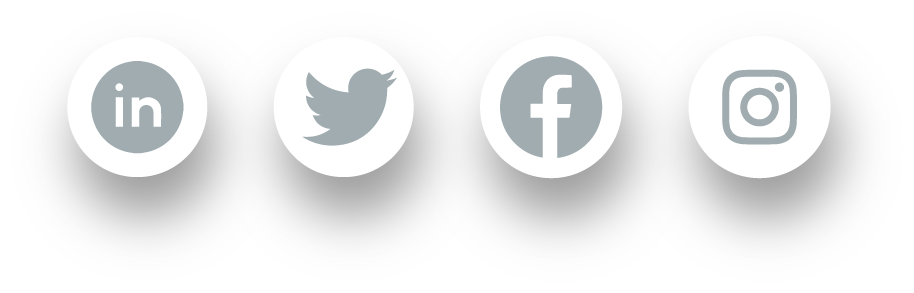 Social Media Networks for a Marketing Agency in 4 little circles